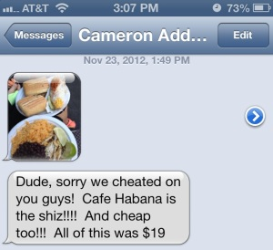 Cafe Habana Text Cam
